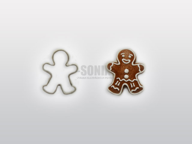 Mr. Gingerbread 4cm cookie cutter