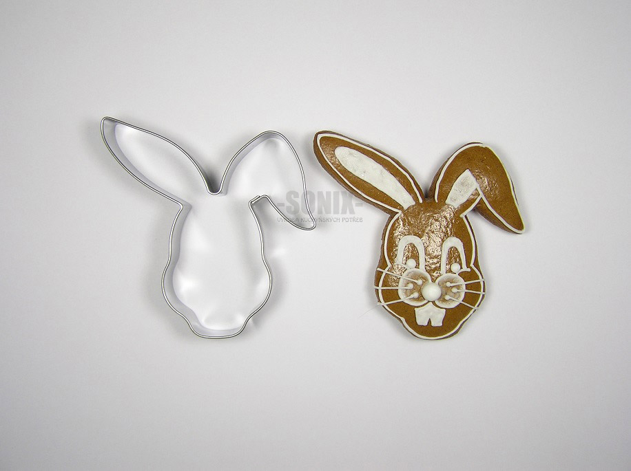 Hare head cookie cutter