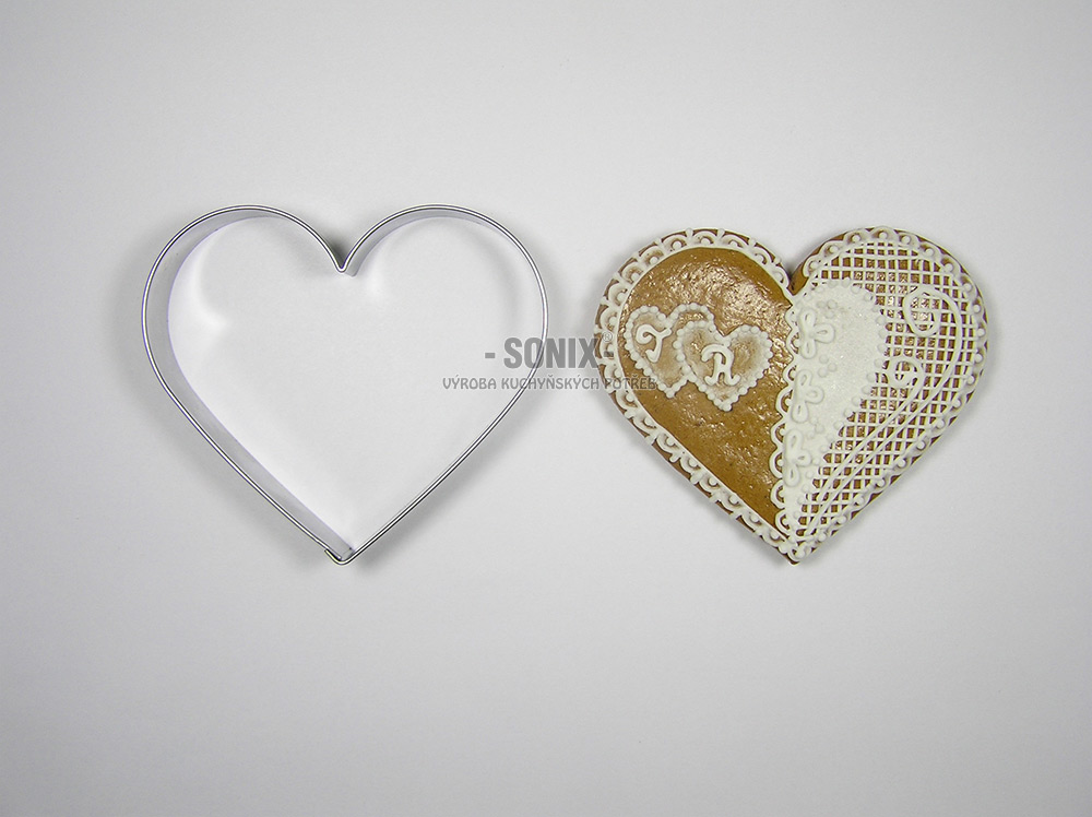 Heart 8 cm cookie cutter
