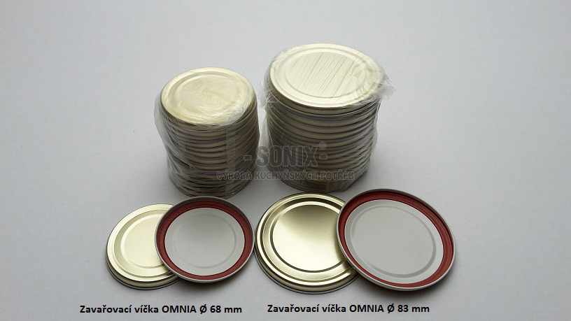 Preserving lids OMNIA Ø83 mm/20 pieces