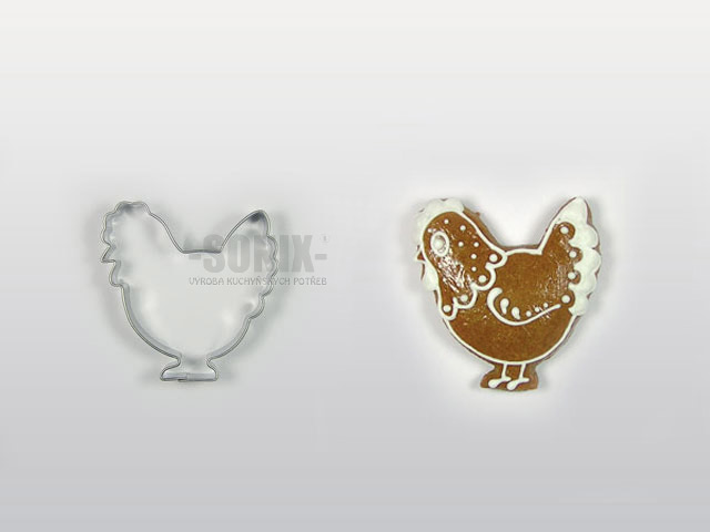 Hen cookie cutter