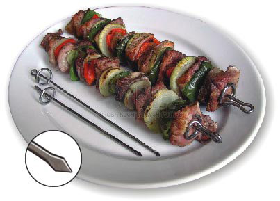 Barbecue skewers - Flat - 18 cm / 2pcs